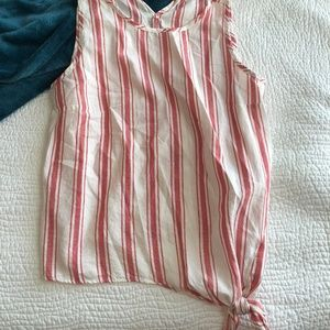 Madewell Side Tie Striped Blouse